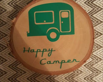 Happy Camper Wooden Trivet