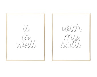 it is well with my soul print, instant download, wall printable, art print, digital print, it is well with my soul art, it is well print