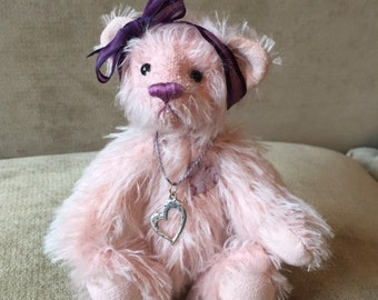 Petal - artist made, hand-made, mohair, teddy bear, collectible, one-of-a-kind