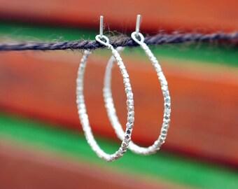 STERLING SILVER earrings,  wheels, handmade, Karen Hill