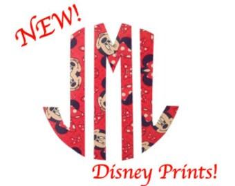 MONOGRAM- DISNEY - Quality Vinyl Decal, CUSTOM Monogram, Gifts for Disney fans, Girlie Decals, Girlie Monograms, Fast Shipping!!!