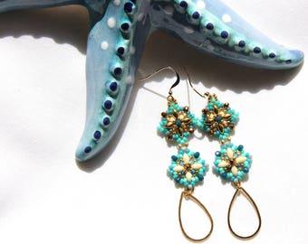Sea drop earrings