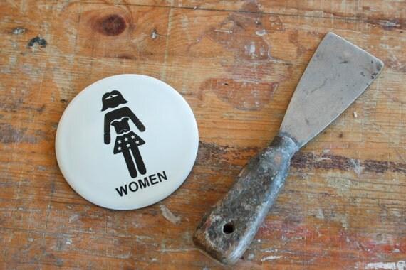 Wonder Woman toilet sign