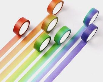 Rainbow Ombre Washi Tape, Rainbow Decorative Tape, Ombre Washi Tape, RGB Washi Tape, Decorative Tape, Washi Tape