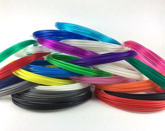 3D Maker Nation filament, ABS and PLA 1.75mm, pens & printers, 23 colors, 414 total feet, KALEIDOSCOPE