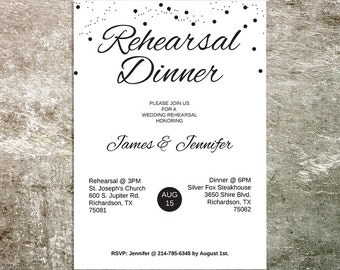 Rehearsal Dinner Invitation - Rehearsal Dinner - Invitation Template - Editable Wedding Stationery - Dinner Invite - Printable Invitation
