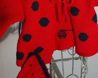 Red polka dot jacket with Hat