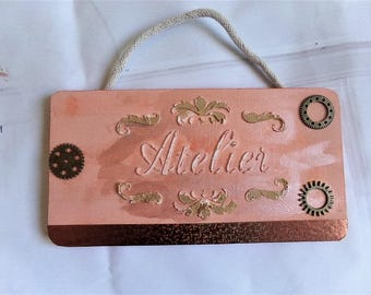 Vintage for workshop door plate