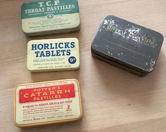 Four Vintage Tins