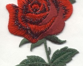 iron on patch applique ROSE RED