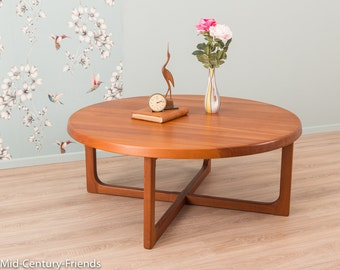Teak coffee table, 60s, side table, vintage (604045)