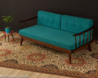 50s sofa, couch, 50s, vintage, petrol (702031)