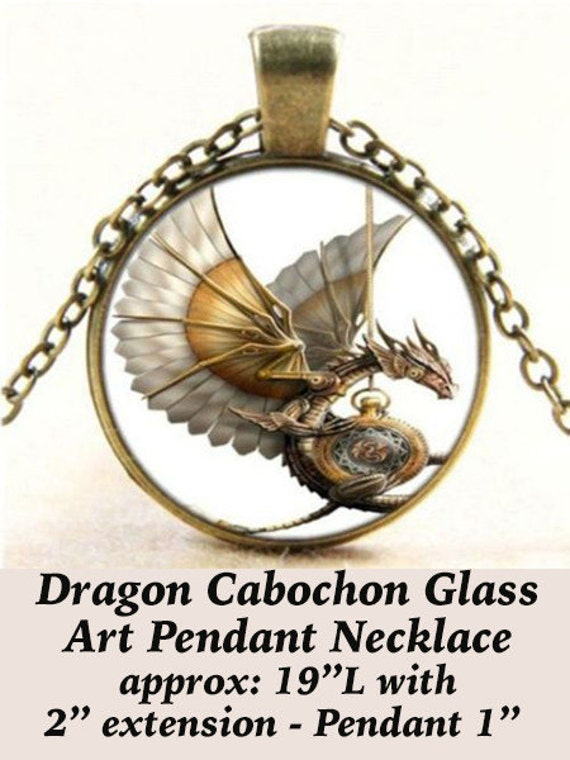 Steampunk Pendant Cabochon, Dragon  **FREE Shipping with orders of 10 dollars+ **