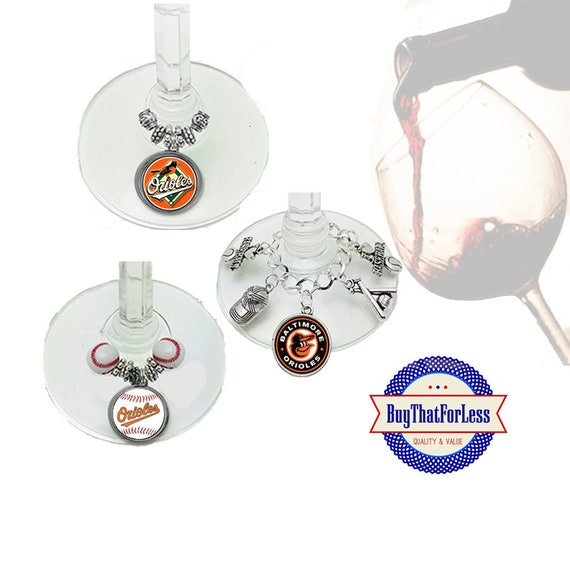BALTIMORE Wine or Bottle Charms, Napkin Rings, Set of 6, U Choose Style  +FREE SHiPPiNG & Discounts*