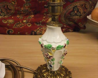 Table/ Bedside Light Brass and china