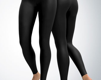 Leggings / Yoga Pants / Yoga Capri - Black Leggings