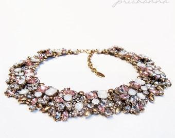 Flora Rhinestone Necklace by prishanna