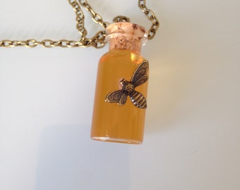 Honey and bee pendant