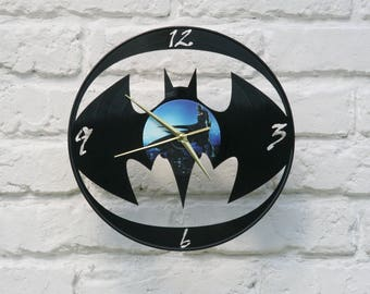 Vinyl record wall clock, ideal for home decor, unique gift present and hand made art, interior design for music fan, 019
