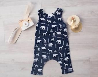 African Animal Harem Romper, Baby Romper, Baby boy romper, Baby girl romper, Baby boy outfit, Boy outfit, Baby girl romper, Toddler Romper