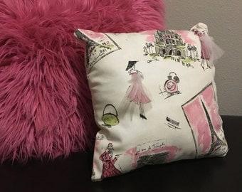 Decorative Paris Accent Pillow
