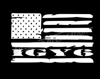 American Flag IGY6 Decal | I Got Your Six Decal |  Support Decal | Vinyl Vehicle Decal/Sticker