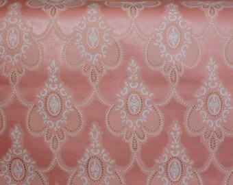 Pink vintage wallpaper, Retro Wallpaper by Yard, Vintage Wallpaper, Material for needlework, Scrapbooking, Soviet vintage, antique wallpaper