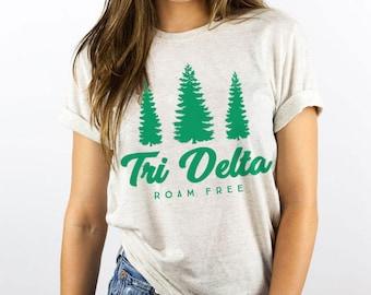Tri Delta Roam Free Triblend Tee / Greek, Sorority, Chapter / Delta Delta Delta