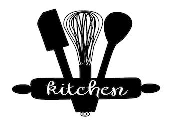 Kitchen Utensil Decal