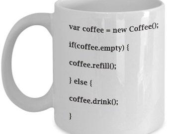 coffee code funny coffee mug for coders
