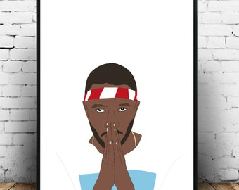 Frank ocean wall art/print/art poster for the home! A3 in size, makes a great gift for a lover of frank ocean!