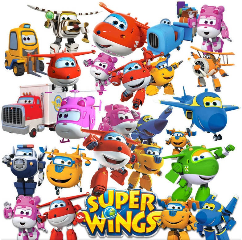 super wings clipart