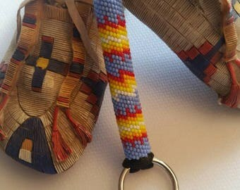 Authentic Native American Beaded Lanyard