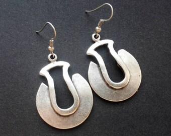Ethnic Earrings | Antique Silver Plated Zamak Earrings | Tribal Earrings | Pendientes | Boho  Earrings | Gipsy Earrings | Bohemian Earrings