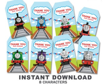 Thomas The Train Thank You Tags //INSTANT DOWNLOAD // Digital File Only