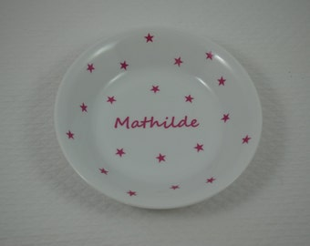 Baby personalized stars constellation Rose plate
