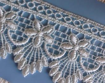 """2.25"""" Ivory Guipure/Venise Bridal Lace trim"""