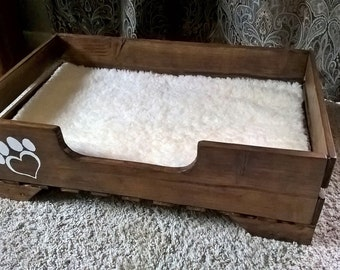 Rustic small/medium dog bed