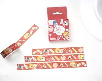 Sweet Memory Japanese Washi Tape,Masking Tape, Decorative Tape, Planner Sticker, Journal Sticker,Food