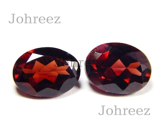 10 Piece Natural Garnet Oval Shape Faceted Cut Loose Gemstone High Quality