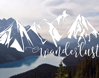 Wanderlust Mountains - Mountains Decal - Wanderlust Decal - Take me to the Mountains - Wanderlust forever - Car Decal - Outdoors decal