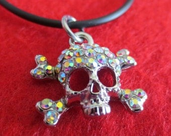 Rhinestone skeleton head