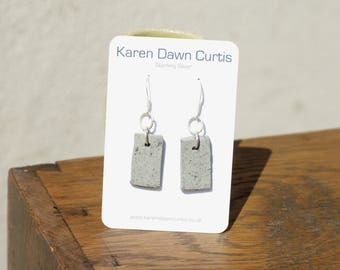 Sterling Silver Earrings, Ceramic Earrings, Handmade Sterling Silver Ceramic Earrings, Unique Gift, Blue Earrings, Handcrafted Earrings
