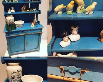 Fabulous French miniature dresser original paint