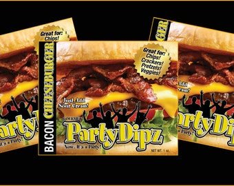 3-Pak of PartyDipz Bacon CheeseBurger Gourmet Dip Mix (FREE SHIPPING)