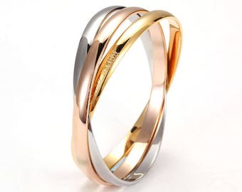 3-in-Bangle, 3 in 1 Bangle, Non-Personalized Three Tone Bangle Set ONLY 39