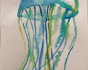 Green blue Jellyfish