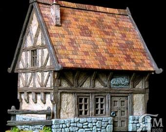 Medieval house 2 (ech 30mm resin kit)