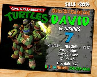 Teenage Mutant Ninja Turtles Invitation, Ninja Turtles birthday, TMNT, Ninja Turtles,Ninja Turtles invite, Ninja Turtles party