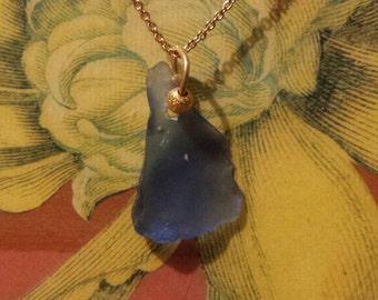 Lake Michigan Beach Glass Pendant Necklace